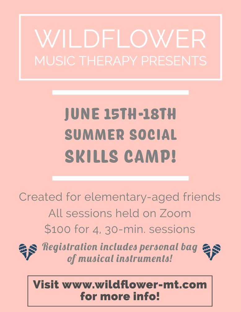WMT Summer Social Skills Camp Flyer